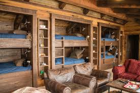 Cabin Bunk Bed Cabin Bunk Bed Ideas Rustic With Exposed Beams Sleeps Six