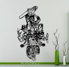 horror home decor aliexpress com buy movie maniacs wall sticker freddy krueger