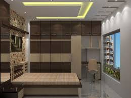 apartment bedroom decoration with modern wall cabinet furniture