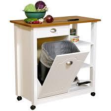 Kitchen Cart Table by Kitchen Cart Trash Bin Home Design Photo Gallery