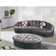 couch and ottoman set papasan modern style velvet 2 piece sectional sofa with ottoman set