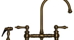 contemporary antique brass kitchen faucet pull out spray tags
