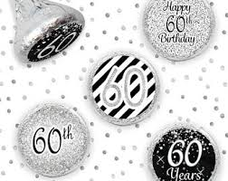 silver party favors 60th birthday party favors etsy