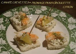 canap au fromage canapé de fromage frais ciboulette citron aux crevettes ma cuisine
