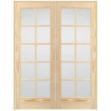 Home Depot Interior French Doors Steves U0026 Sons 48 In X 80 In 10 Lite Glass Solid Core Unfinished