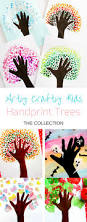 four season handprint tree crafty kids craft and activities