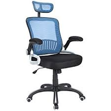 desk chair with headrest amazon com h l office mid back blue mesh executive managerial