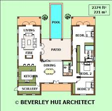 u shaped house plans with pool in middle h shaped house plans with pool in the middle cape architect