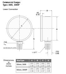 ashcroft 3005 commercial hydraulic gauge 63 3005h 02l 3000