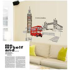 wall sticker decoration cheap china online china buy suppliers removable home decoration wallpaper red london double decker bus adesivo de parede creative art mural