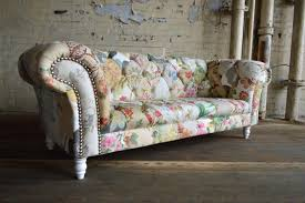 Floral Couches Couch Sofa Modern British And Handmade Shabby Chic Patchwork