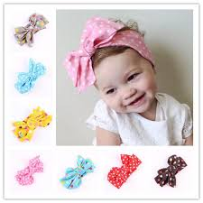 baby girl headwraps kids baby headwraps top knot dot big bow headband
