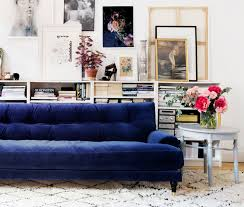 Sofa For Living Room Pictures 25 Stunning Living Rooms With Blue Velvet Sofas
