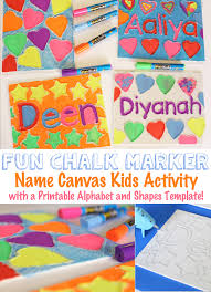 pattern art name canvas name art craft for kids