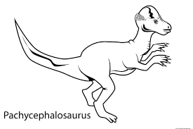 dinosaur pachycephalosaurus coloring book pagesfree printable