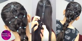 hairstyles using rubber bands how to create elastic bands hairstyle see tutorial