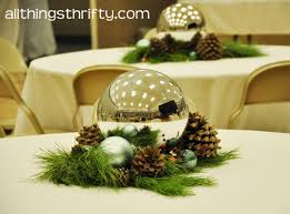 instructions to make christmas table decorations artificial