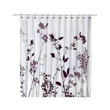 purple and gray shower curtain curtains wall decor
