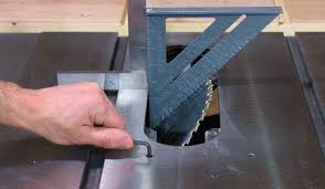 cutting angles on a table saw table saw alignment
