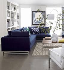 Navy Blue Sectional Sofa 20 Modern Sectional Sofas For A Stylish Interior Crates Barrels