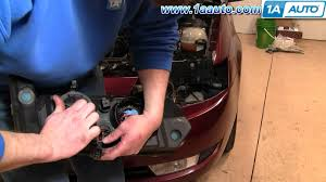 how to install replace headlight and bulb saturn ion 03 07 sedan