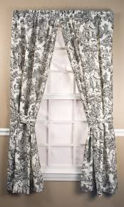 Textured Cotton Tie Top Drape by Rod Pocket Curtains Thecurtainshop Com