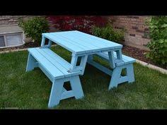 Diy Foldable Picnic Table by Folding Picnic Table To Bench Seat Free Plans How Awesome Is
