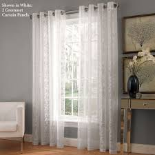 White Lace Shower Curtain by Royal Lace Grommet Curtain Panels