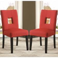 Red Parsons Chairs Mendoza Keyhole Back Dining Chairs Set Of 2 By Inspire Q Bold