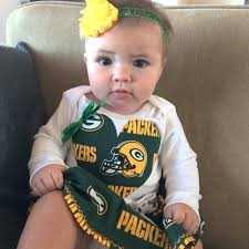 bay bay baby baby girl green bay packer sleeve with skirt