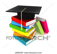 graduation books drawings of colorful books and graduation cap k6905404 search