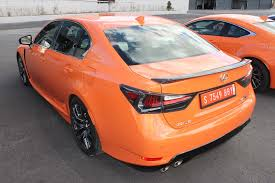 lexus sport orange 2016 lexus gs f review reining in spain