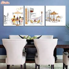 Dining Room Prints Shinehome 3pcs Wall Canvas Prints Paintings Triptych Modular