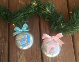 personalized christmas ornaments baby baby ornament etsy