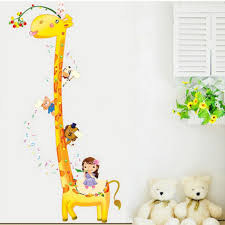 cool animal nursery decal jungle tree wall sticker vinyl art large size of baby nursery adorable giraffe animal nursery wall decal height chart wall sticker