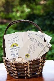 basket for wedding programs do you really need a wedding program i via the howerton wooten