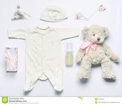 Fashion Stuff Top View Set Of Fashion Trendy Stuff For Newborn Baby In So