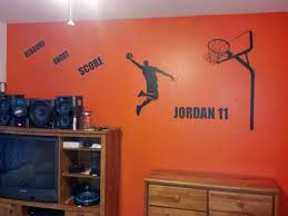 wonderful orange wall finished added art wall decals as cool and