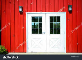 Red Barn Doors by Wonderful Red And White Barn Doors Illustration Of A Cowboy