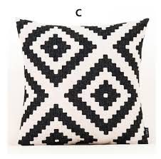 Throws And Cushions For Sofas Simple Geometric Throw Pillows Black And White Couch Cushions For