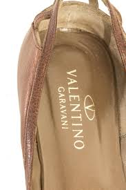 valentino brown flats curated designer consignment vancouver