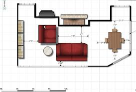 Sofa Size Floor Plan Fireplace Kitchen Family Room Home - Family room size