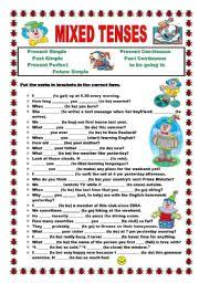 english worksheets present perfect present perfect continuous