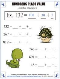 place value activities hundreds place worksheets