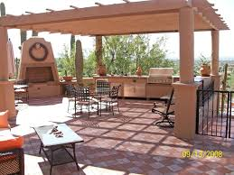 fascinating outdoor kitchen ideas wooden gazebo natural stone