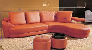 contemporary orange sectional sofa set tos lf 8333