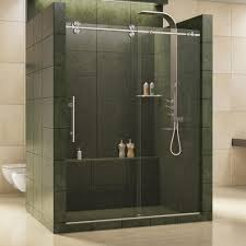 frameless bypass sliding shower doors showers the home depot