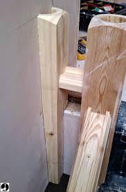 Stair Post Height by Fitting A Half Newel Post To The Wall