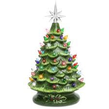 15 pre lit ceramic tabletop tree green best choice