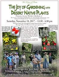 native plants california events u0026 classes the power of plants